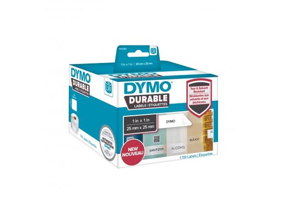 Etichete DYMO Durable LabelWriter din plastic alb, multifunctionale. (dimensiuni 25 mm x 25 mm) 1.700buc/rola-big
