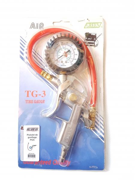 Pistol de umflat PGS cu manometru, presiune lucru 0-10 bar, AG58100 ALSAFIX-big