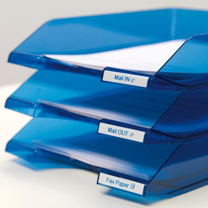 Banda D1 9 mm x 7 m, albastru / alb DYMO cod DY 40914-big