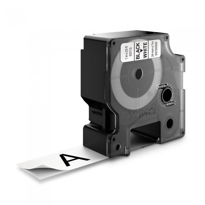 Banda D1 24 mm x 7 m, negru / alb, DYMO cod DY 53713-big