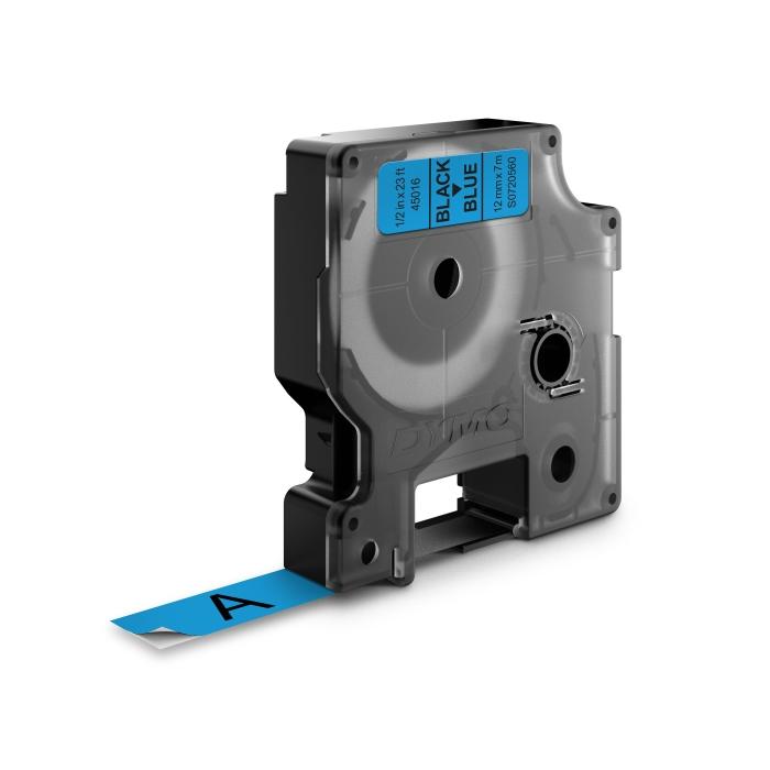 Banda D1 12 mm x 7 m, negru / albastru, DYMO cod DY 45016-big