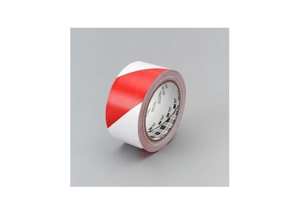 Banda marcare/protectie, 2 culori, 3M 767I vinil, rosu/ alb, 50mm X 33m, 24 role/cutie-big