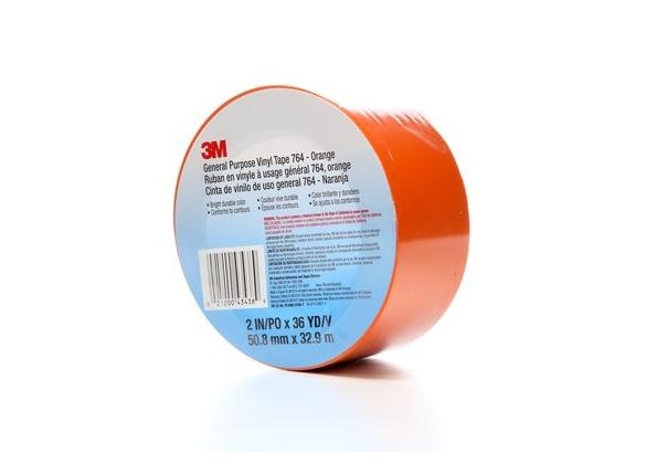 Banda marcare/protectie, 1 culoare, 3M 764I vinil, orange, 50mm X 33m, 24 role/cutie-big