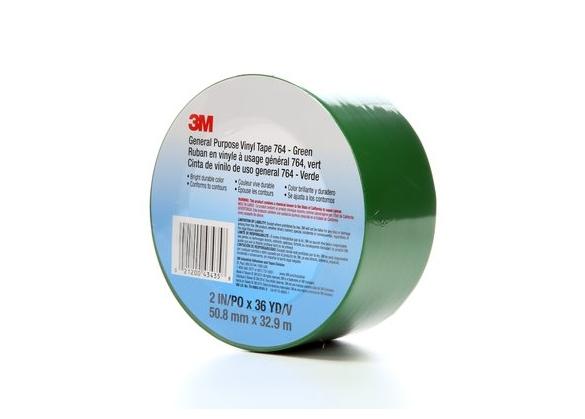 Banda marcare/protectie, 1 culoare, 3M 764I vinil, verde, 50mm X 33m, 24 role/cutie-big