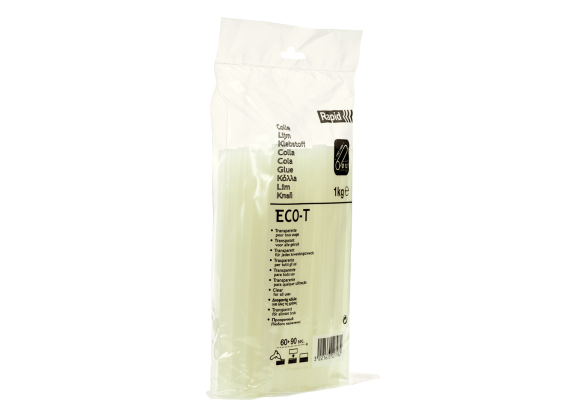 Batoane lipici Rapid ECO-T Ø12 mm x 190 mm, economic, transparent, 1.000g, punga-big