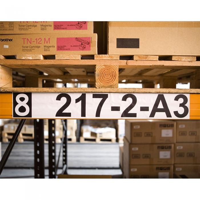 Etichete termice autocolante compatibile, Brother DK-22243, hartie alba, modul continuu, 62mmx102m, suport din plastic inclus DK22243-C-big