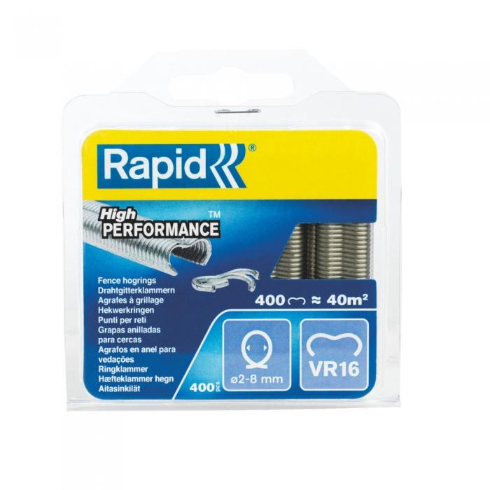 Capse gard Rapid HOG VR16/2-8mm, galvanizate, 400 buc/blister-big