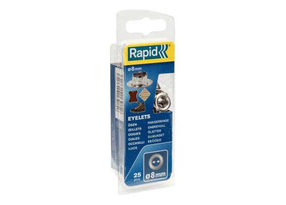 Ocheti Rapid  - diametrul de 8 mm, aluminiu, sistem fixare inclus, 25buc/ blister-big