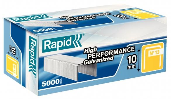 Capse Rapid 13/10 mm, galvanizate, 5.000/ cutie-big