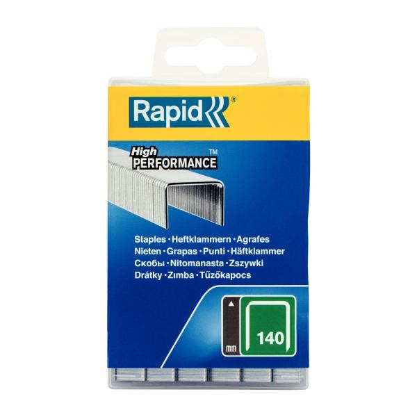 Capse Rapid 140/12 mm, galvanizate, 5.000/ cutie polipropilena-big