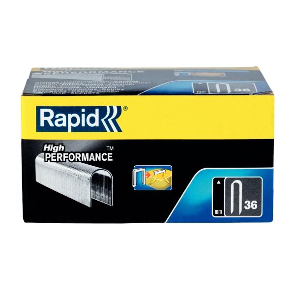 Capse Rapid 36/12 mm, galvanizate, divergente, 1.000/ cutie-big