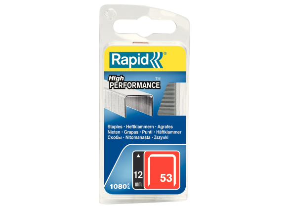 Capse Rapid 53/12 mm, galvanizate, 1.080/ blister-big