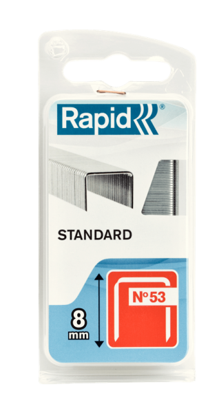 Capse Rapid 53/8 mm, STANDARD, 1.060/ blister-big
