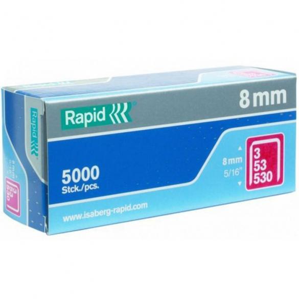 Capse Rapid 53/8 mm, STANDARD, 5.000/ cutie-big