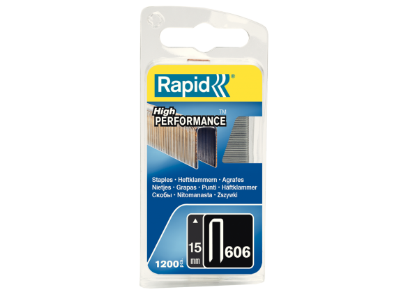 Capse Rapid 606/15 mm, galvanizate, cu rasina, 1.200/ blister-big