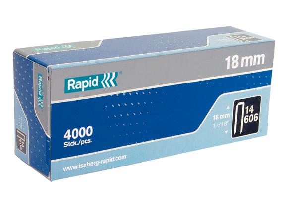 Capse Rapid 606/18 mm, galvanizate, cu rasina, 4.000/ cutie-big