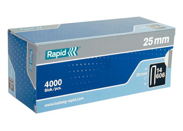 Capse Rapid 606/25 mm, galvanizate, cu rasina, 4.000/ cutie-big