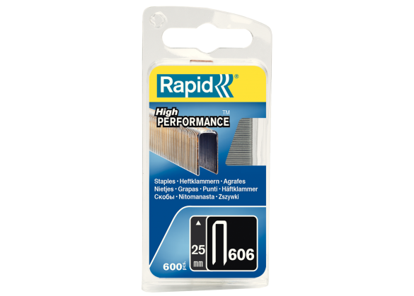 Capse Rapid 606/25 mm, galvanizate, cu rasina, 600/ blister-big