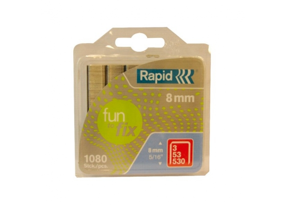 Capse Rapid Fun to Fix 53/8 mm, galvanizate, 1.080/ blister-big