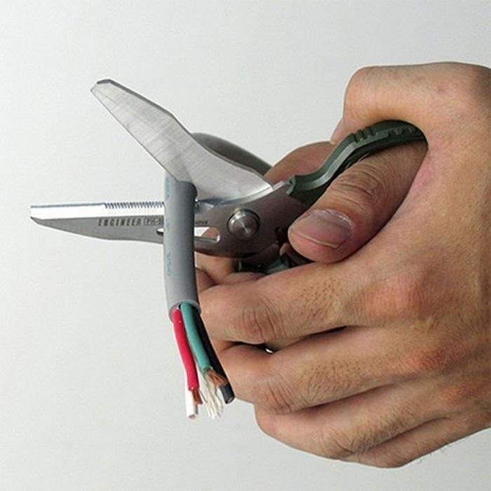 Foarfeca multifunctionala ENGINEER PH-55, cleste patent combinat extragere suruburi uzate ENGINEER PZ-58, masca PZ-58, cutie cadou din lemn pauwlonia, fabricat in Japonia PGT03-big
