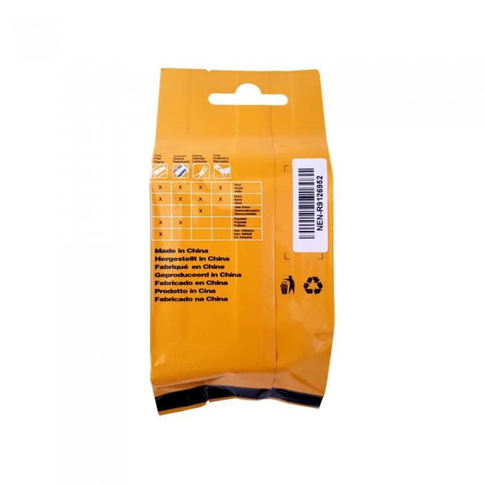 Compatible Flexible Nylon Tape, 19mm x 3,5 m,black on yellow, DYA18491-big