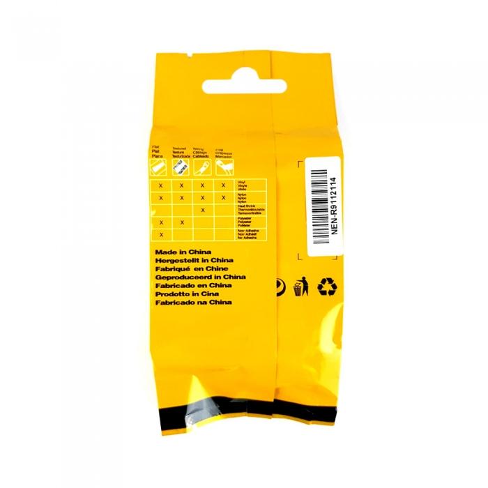 Etichete industriale autocolante compatibile, DYMO ID1 vinil, 9mm x 5.5m, negru/alb, S0718580-C 18443-big
