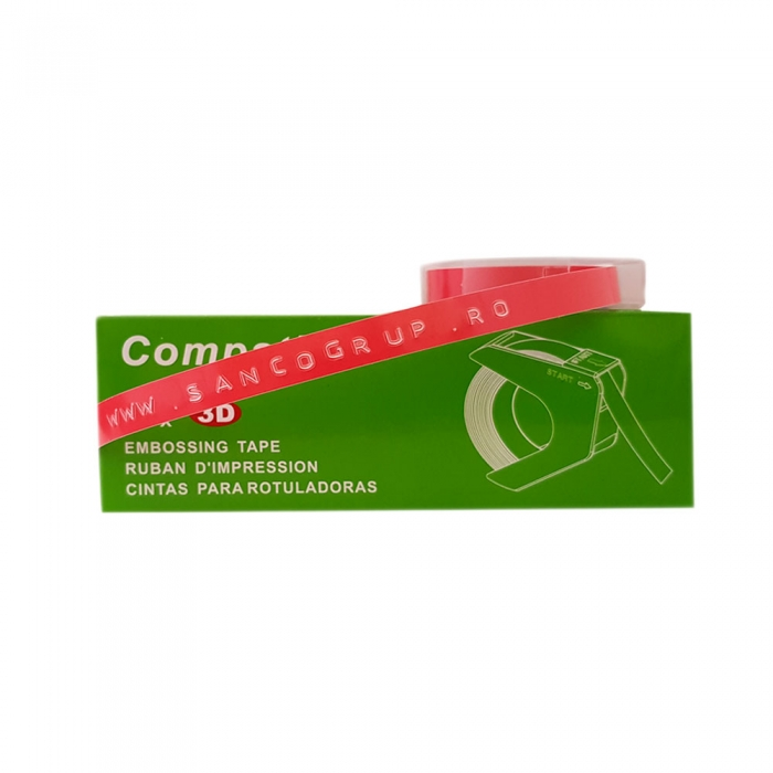 Embossing Tape 9mm compatible DYMO, pink, A520105 S0898150-C-big