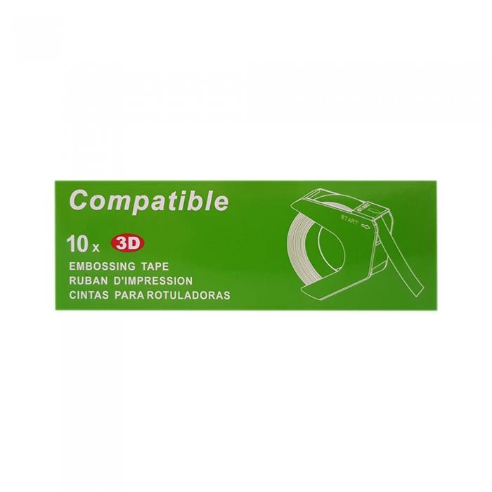Etichete plastic embosabile compatibile DYMO Omega, 9mmx3m, roz, A520105 S0898150-C-big