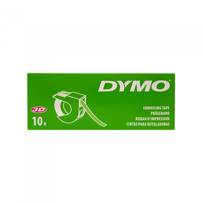 Etichete plastic embosabile DYMO Omega, 9mmx3m, rosu, S0898150 S0847690-big