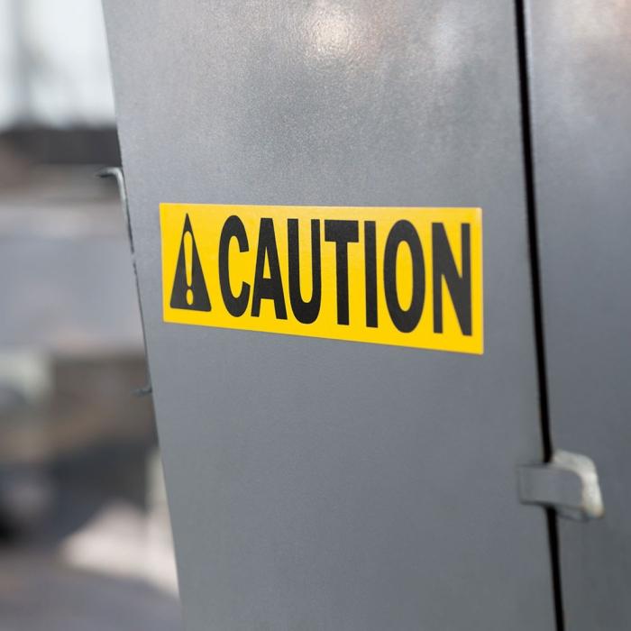 Etichete industriale autocolante, DYMO ID1 vinil, 24mm x 5.5m, negru/galben, 1805431-big