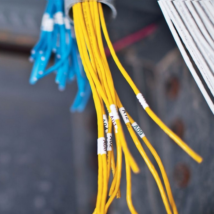 Etichete industriale autocolante, DYMO ID1, nailon flexibil, 19mm x 3.5m, negru/alb, 18489 S0718120-big