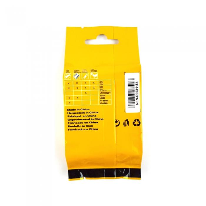 Etichete industriale autocolante compatibile, DYMO ID1, poliester permanent, 12mm x 5.5m, negru/alb, 18483 18483-C-big