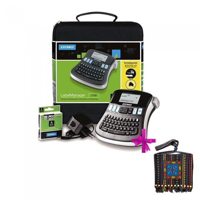 Aparat de etichetat (imprimanta etichete) DYMO LabelManager 210D, Kit-big