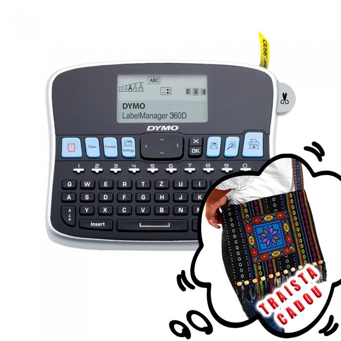Aparat etichetat (imprimanta etichete) DYMO LabelManager 360D, acumulator reincarcabil inclus, S0879510 S0879520 S0879490 879510-big