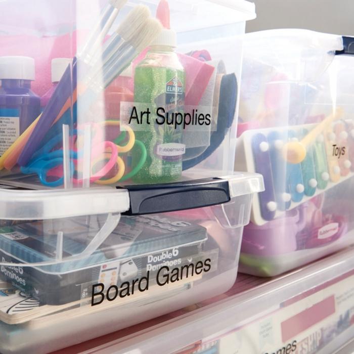 Etichete autocolante plastifiate, DYMO LabelManager D1, 24mm x 7m, negru/transparent, 53710 S0720920-big