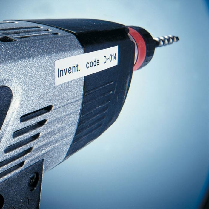 Etichete autocolante, DYMO LabelManager D1, poliester permanent, 19mm x 5.5m, negru/alb, 16960 S0718070-big