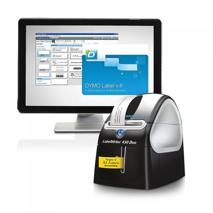 Imprimanta termica etichete DYMO LabelWriter 450 Duo, aparat de etichetat S0838920 S0838960-big