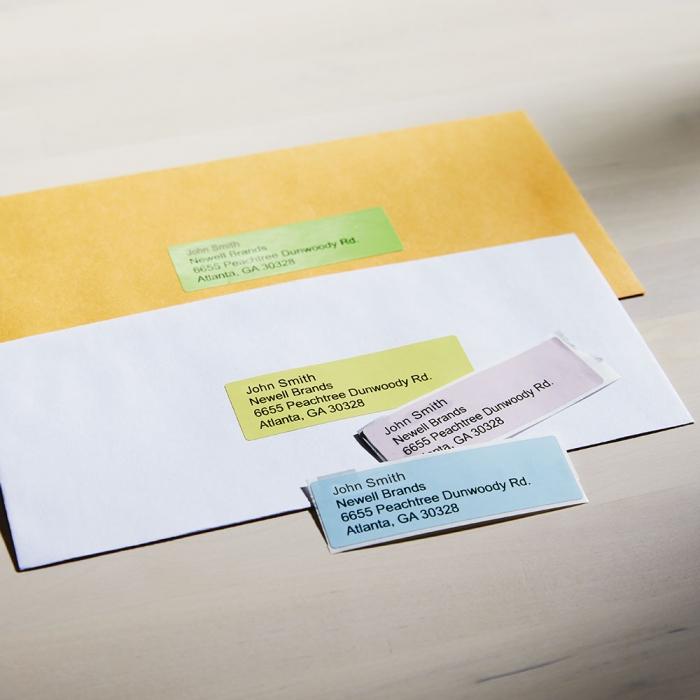 Etichete termice, DYMO LabelWriter, adrese, permanente, 28mmx89mm, hartie color, 4 role/cutie, 130 etichete/rola, 99011 99010 S0722380-big