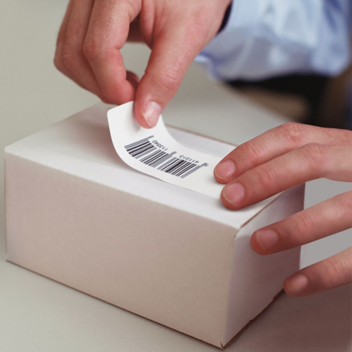 Etichete termice, DYMO LabelWriter, mare capacitate, adrese, doar pentru LW 4XL, permanente, 28mmx89mm, hartie alba, 2 role/cutie, 1050 etichete/rola, 947410 S0947410 DY99010-big