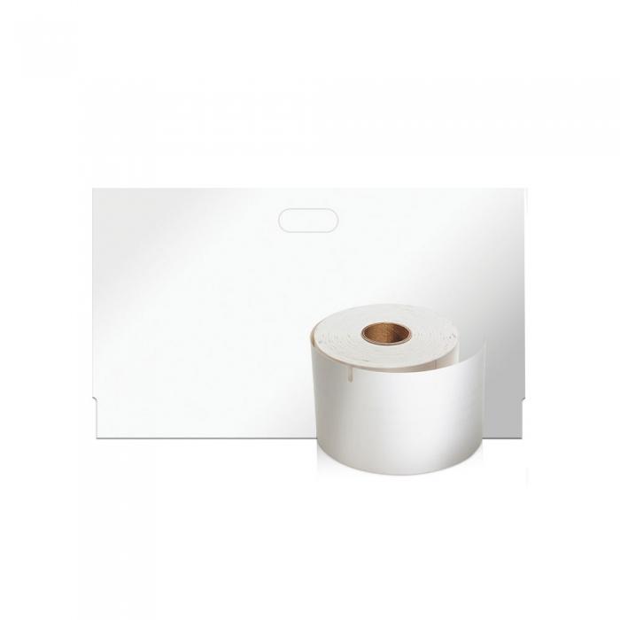 Etichete termice, DYMO LabelWriter, ecusoane/carduri mari, neadezive, 62mmx106mm, hartie alba, 1 rola/cutie, 250 etichete/rola, S0929110-big