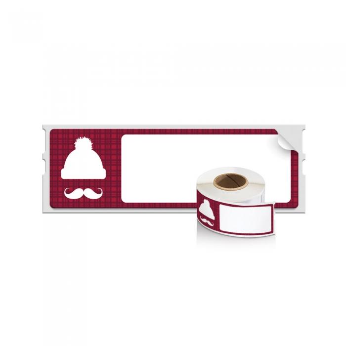 Etichete termice, DYMO LabelWriter, Lumberjack Holiday, permanente, 28mmx89mm, hartie alba, 1 rola/cutie, 130 etichete/rola, 1960101-big