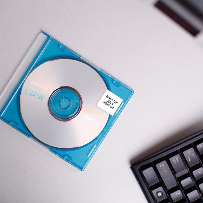 Etichete termice, DYMO LabelWriter, multifunctionale, patrate, permanente, 25mmx25mm, hartie alba, 1 rola/cutie, 750 etichete/rola, S0929120-big