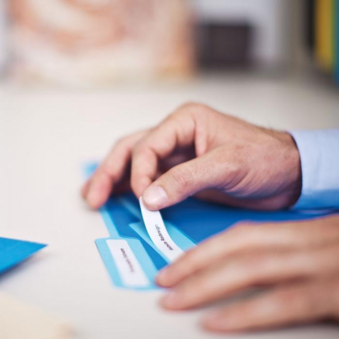 Etichete termice compatibile, DYMO LabelWriter, dosare suspendate, permanente, 12mmx50mm, hartie alba, 220 etichete/rola, 99017 S0722460-big