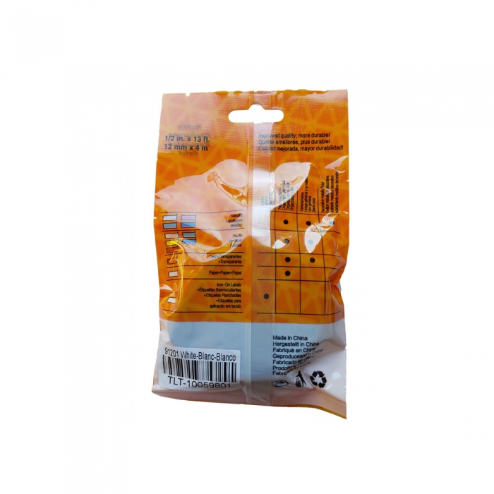 DYMO LetraTag Labelling Tape, compatible, plastic, white, 12mmx4m, A 91201 S0721610-C S0721660-C-big