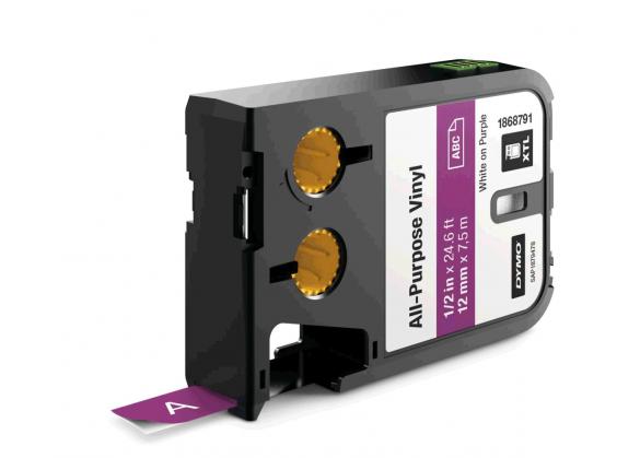 Dymo XTL vinil  12 mm x 7 m, alb/violet-big