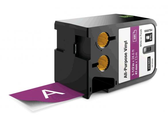 Dymo XTL vinil  41 mm x 7 m, alb/violet-big