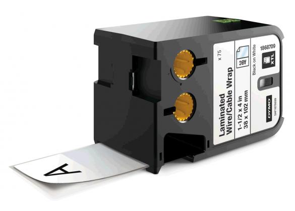 Dymo XTL vinil autolaminant 38mm x 102mm, albe, 75 etichete/banda DY1868709-big