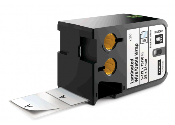 Dymo XTL vinil autolaminant 38mm x 21mm, albe, 250 etichete/banda DY1868707-big
