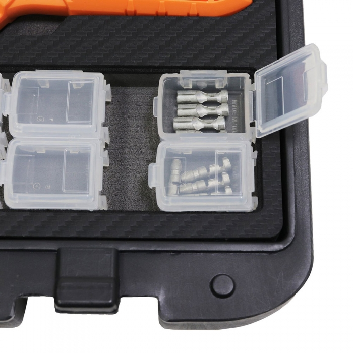 Cleste sertizare papuci, multifunctional ultra-precis, ENGINEER PAD-02, bacuri interschimbabile,3 seturi,incluse de la 0.7 la 3.7 orange, fabricat in Japonia-big