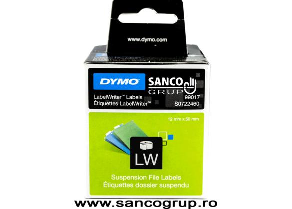 Etichete 50 mm x 12 mm, hartie alba, dosare suspendate, DYMO LabelWriter, cod DY 99017-big